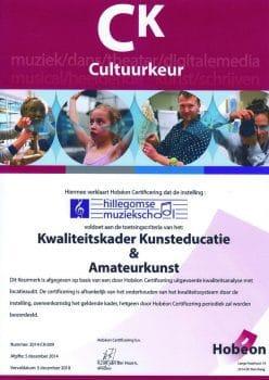 KunstKeurmerkCertificaat