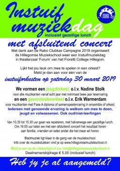 Instuifdag, 30 maart 2019 @ Fioretti College Hillegom | Hillegom | Zuid-Holland | Nederland