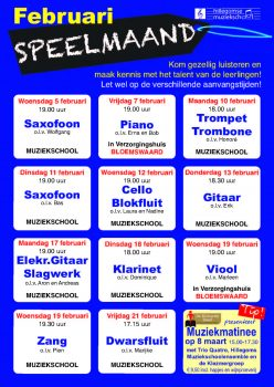 Speelmaand februari @ Hillegomse muziekschool, | Hillegom | Zuid-Holland | Nederland